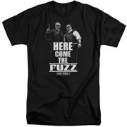 Hot Fuzz Here Come The Fuzz Mens Big and Tall Shirt