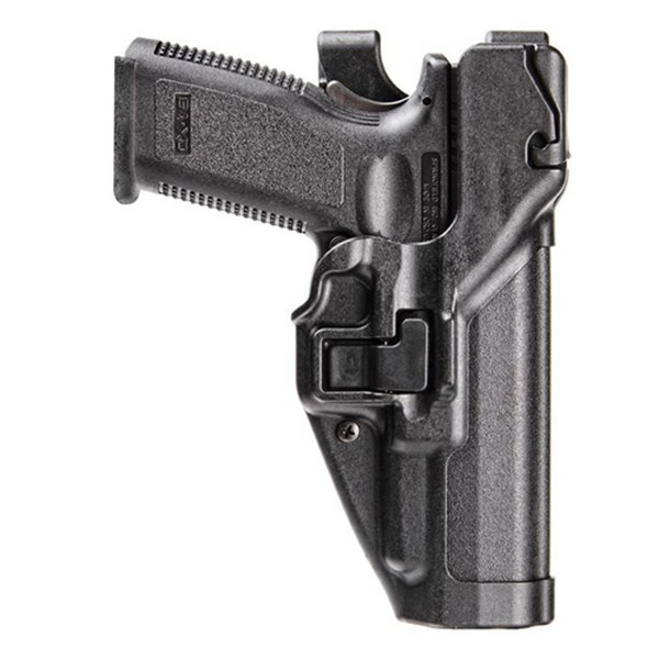 Image of BlackHawk 44H145BK-L Level 3 Serpa Duty Holster Matte Polymer LH for S M .45