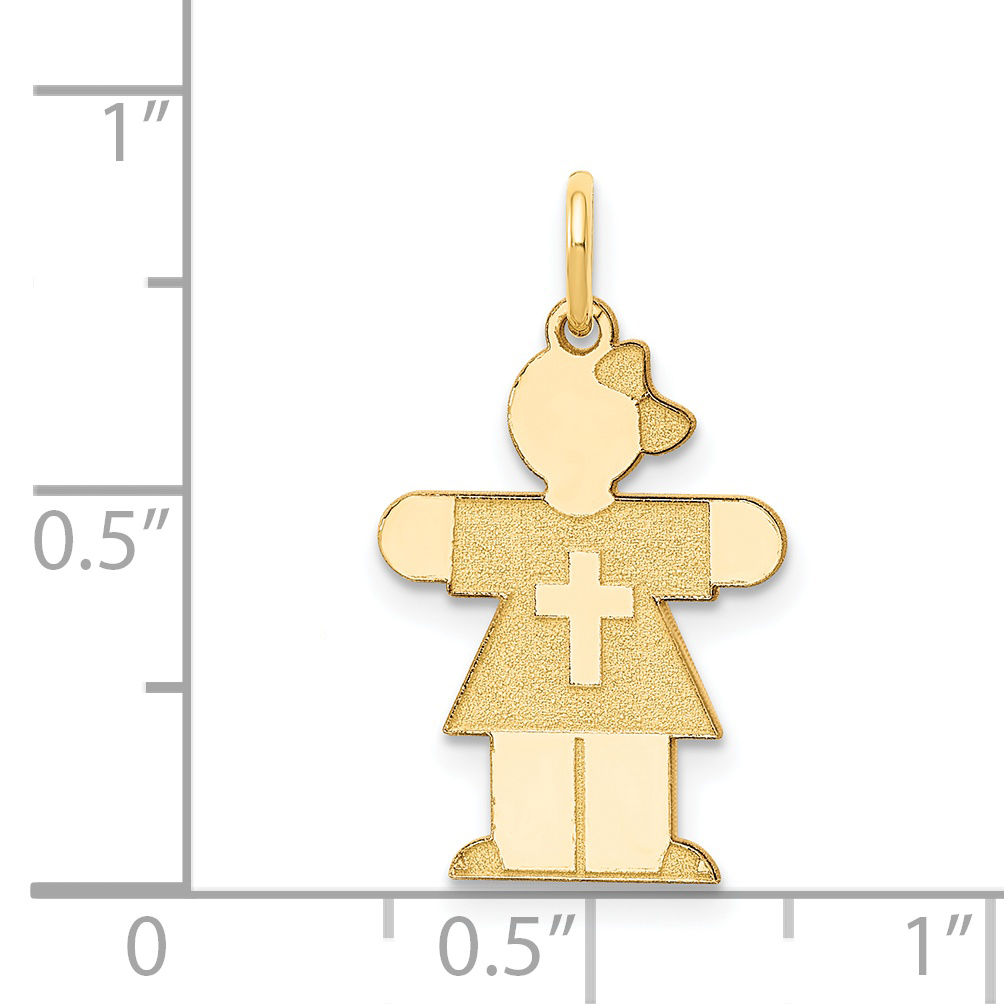 14k Yellow Gold Kid Pendant Charm Necklace Fine Jewelry Gifts For Women For Her - image 1 of 2