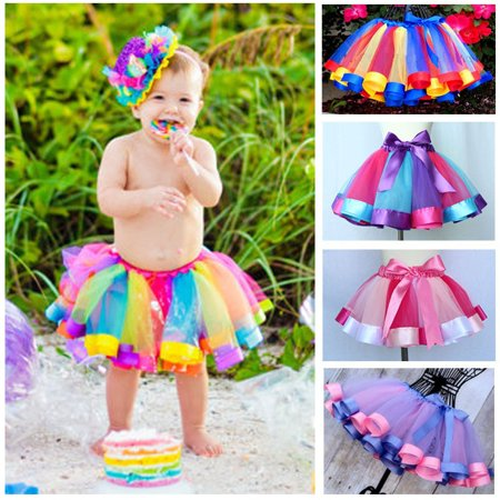 Toddler Kids Girls Party Ballet Dance Wear Tutu Skirt Dress Pettiskirt (Dance Moms Maddie's Costumes)