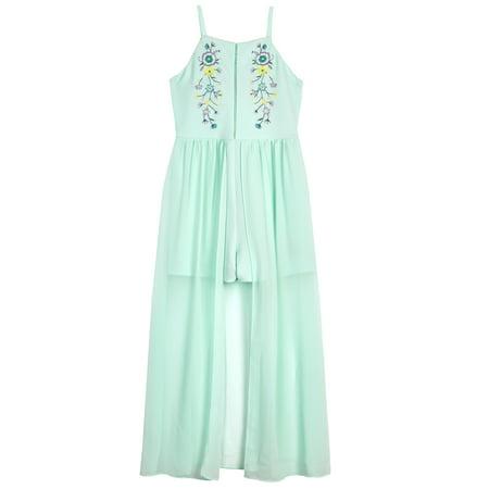 8ca68ae2912 Amy Byer - Embroidered Floral Maxi Dress (Big Girls) - Walmart.com