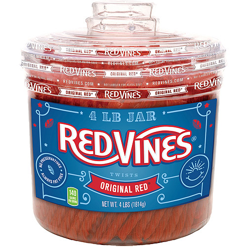 Redvines: Licorice Original Red Twists, 4 Lbs