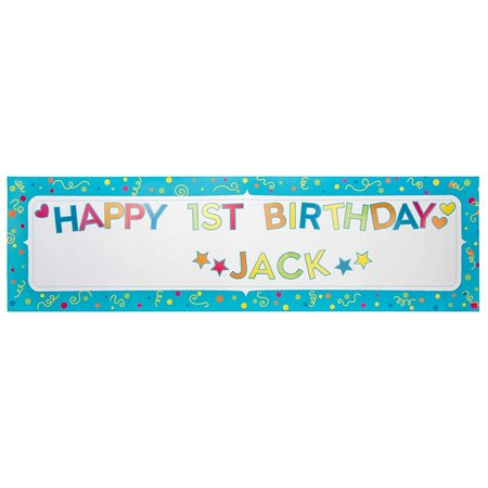 Custom Made Party Banners (Juvale Customizable Banner - 10-Piece Custom Banner Kit - DIY Letter Banner with Stickers - Create Your Own Banner, 62 x 17.5-Inch)