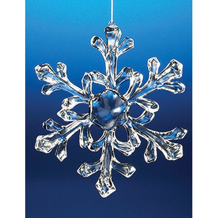 Club Pack of 18 Icy Crystal Decorative Medium Christmas Snowflake Ornaments 6