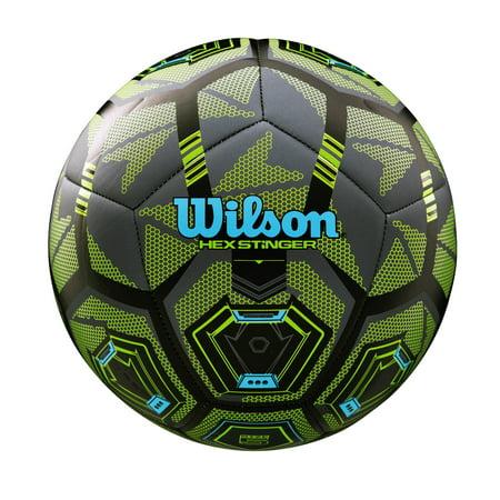 Wilson Hex Stinger Soccer Ball, Size 4 - Rainbow Soccer Ball