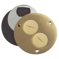 Thomas & Betts Brass Outlet Cover P60DU
