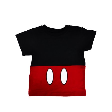 Boys Toddler Disney Mickey Mouse Shirt Costume Red Black - Mickey Mouse Costums