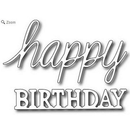 Frantic Stamper - Dies - Mixed Font Happy Birthday](Happy Birthday Halloween Font)