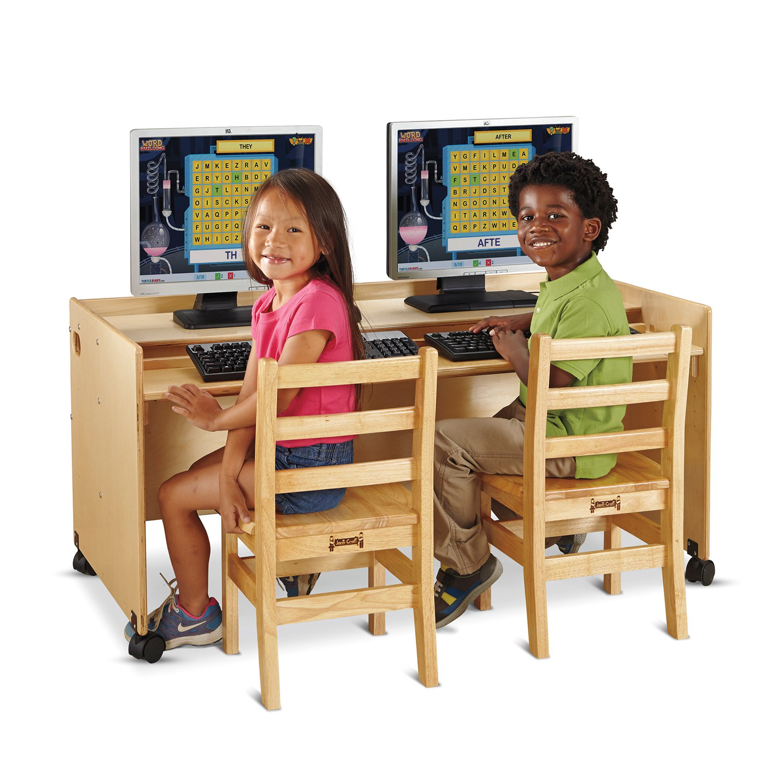 Jonti-Craft Enterprise Double Computer Desk
