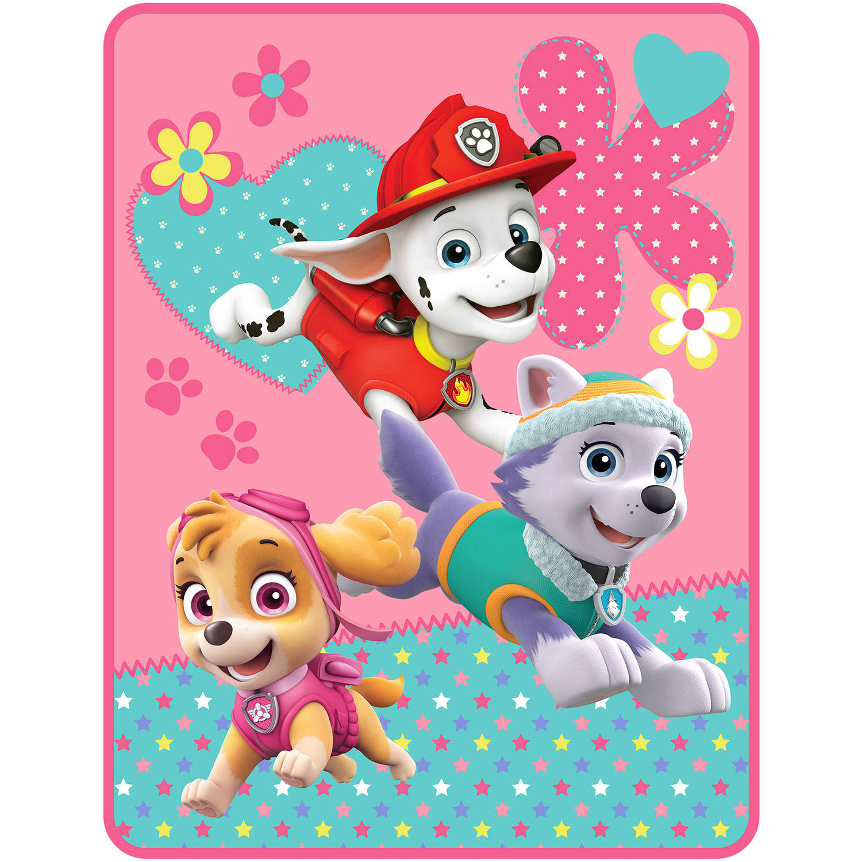 Nickelodeon Paw Patrol Pup Heroes Kids Plush Throw, 46 x 60