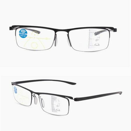 Progressive multi-focus metal solderless point automatic zoom reading glasses - image 5 of 10