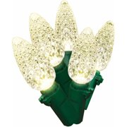 Holiday Time LED Lite Lock C6 Christmas Lights Warm White, 200 Count