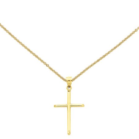 14kt Yellow Gold Polished Cross Pendant