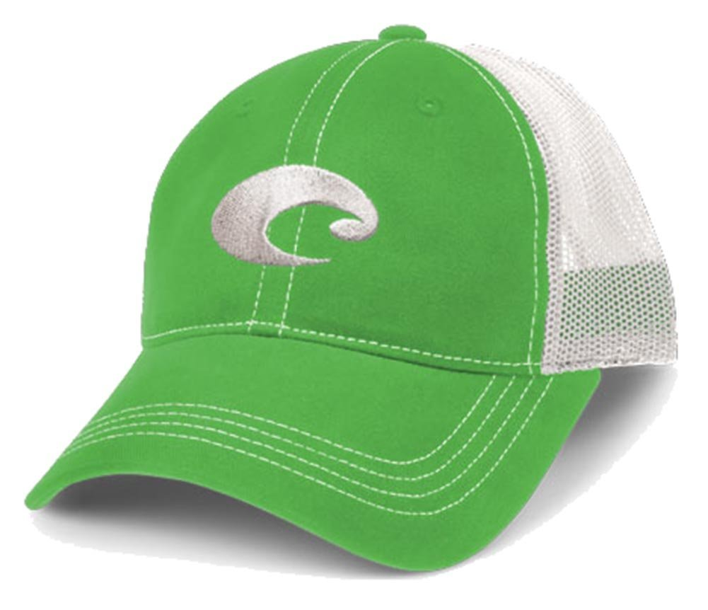 Costa Del Mar Mesh Baseball Strapback Hat      SPRING GREEN//White