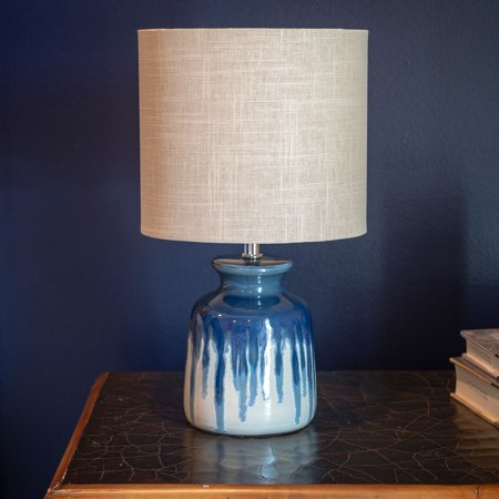 Ceramic Wave Table Lamp - Better Homes and Gardens Ceramic Ombre Drip Table Lamp / Blue