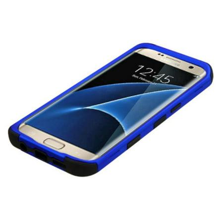 MyBat Tuff Hard Dual Layer Rubberized Silicone Case For Samsung Galaxy S7 Edge - Blue/Black - image 4 of 6