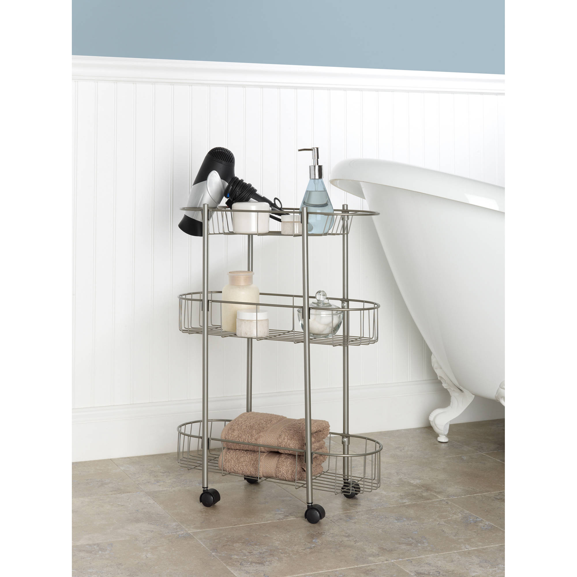 chapter rolling bathroom cart walmartcom - Walmart Bathroom Storage