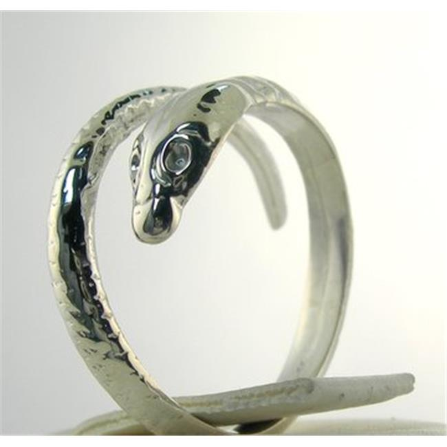 Marinas Fine Jewelry New Snake Wrap Ring Silver Size Adjustable