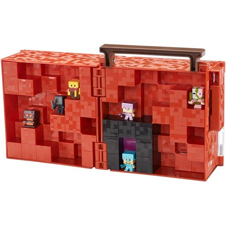 Mattel DWV91 Minecraft Mini-Figure Nether Collector Case