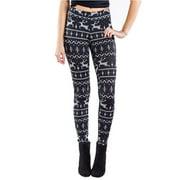 Women Vintage Christmas Xmas Deer 3D Print Skinny Leggings Pants Ladies High Waist Full Length Stretchy Casual Slim Skinny Sport Pencil Pants Size S-XL