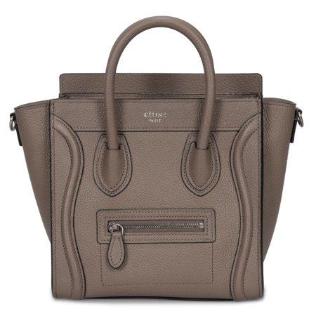 Celine Nano Luggage Bag in Baby Drummed Tan Calfskin (Celine Buy)