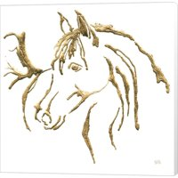 Great Art Now Gilded Mare on White by Chris Paschke Canvas Wall Art