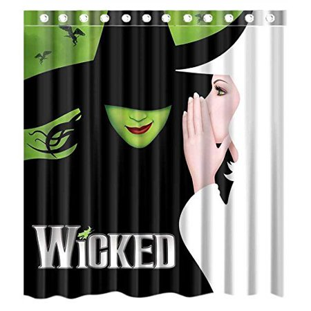 DEYOU Wicked The Musical Broadway Shower Curtain Polyester Fabric Bathroom Size 66x72 Inches