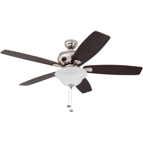 52 honeywell elston ceiling fan with led satin nickel walmart 52 honeywell elston ceiling fan with led satin nickel mozeypictures Image collections