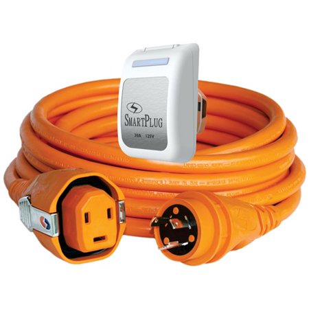 Stock Dual Inlet (SmartPlug 30 Amp Dual Configuration 50 ft Cordset & 30 Amp Non-Metallic White Inlet 30 Amp Dual Configuration 50 ft Cordset & 30 Amp Non-Metallic Black)