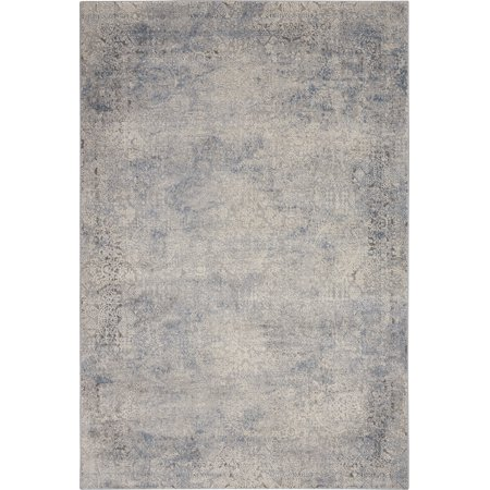 Nourison Rustic Textures Bordered Ivory/Light Blue Area Rug ()