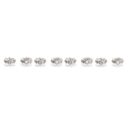 Darice Mix & Mingle Spacer Rhinestone & Pearls Beads Set, 8 Piece