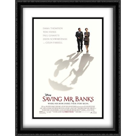 Saving Mr  Banks 28X36 Double Matted Large Large Black Ornate Framed Movie Poster Art Print