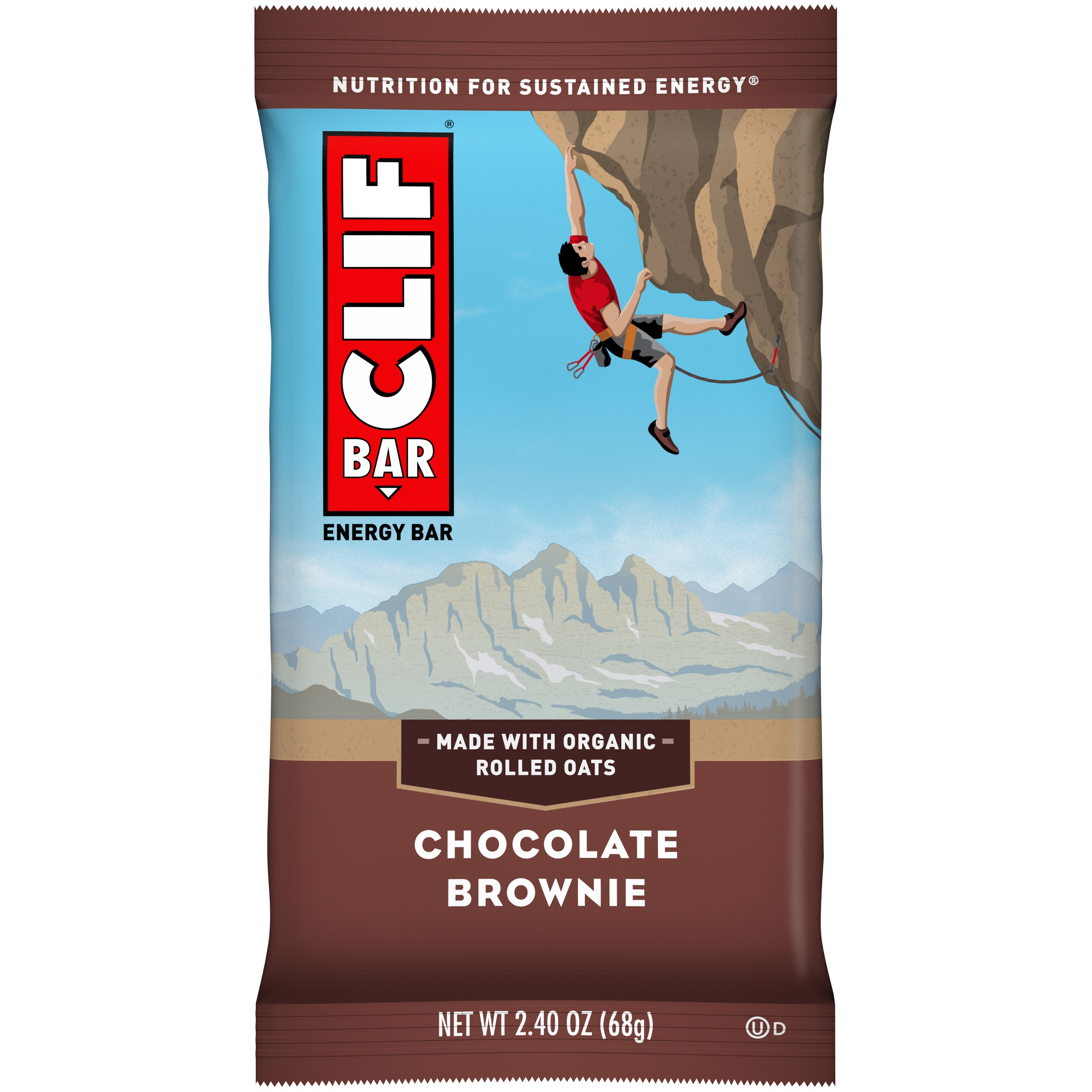 Clif Energy Bar, Chocolate Brownie, 9g Protein, 1 Ct