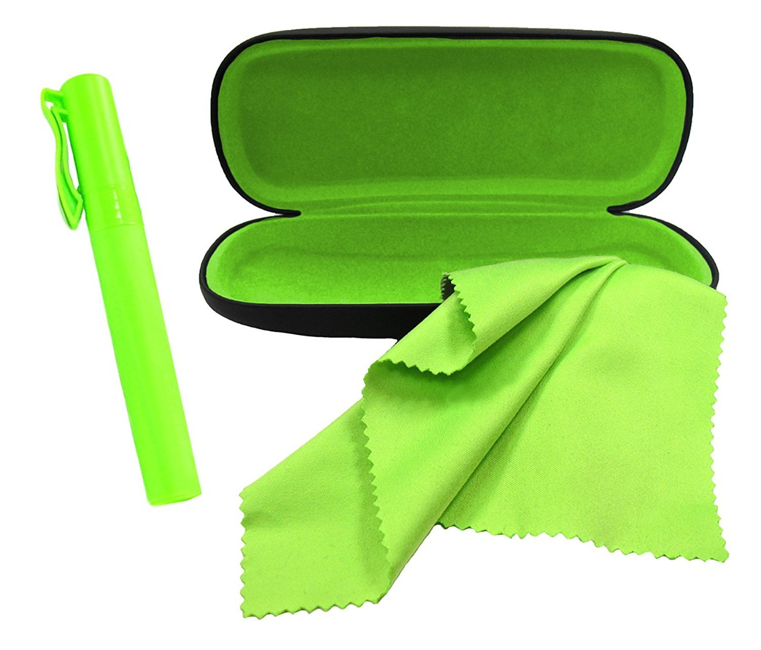 By OptiPlix Includes Case and Microfiber Cloth Eyeglass Cleaner Spray Eyeglasses Case Set Great for All Eyewear and Sunglasses
