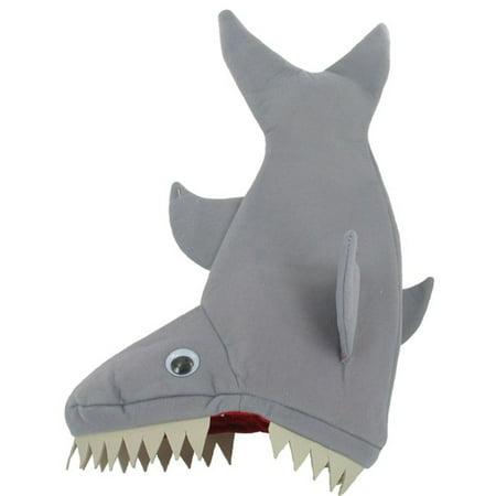 Shark Party Vertical Plush Shark Hat with Felt Teeth](Mini Felt Top Hats)