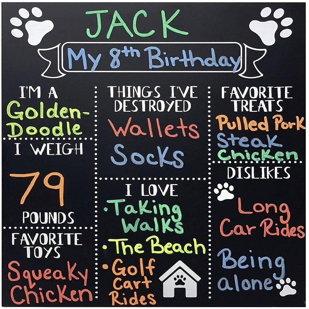 Dog Birthday Sign Dog Birthday Chalkboard Dog Birthday Dog Chalkboard