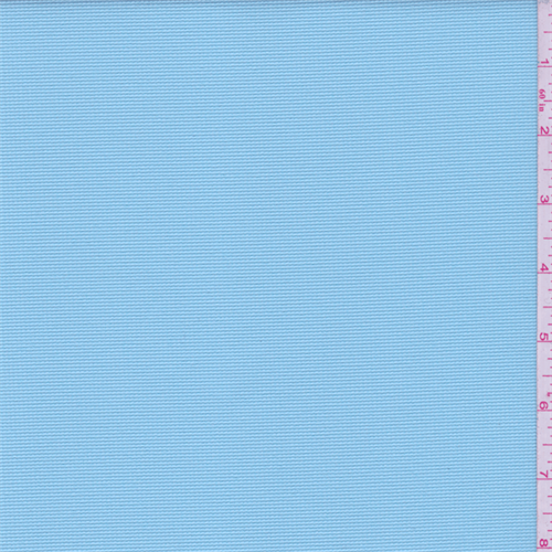Turquoise Blue Pique Polyester Activewear, Fabric By the Yard