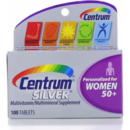 2 Pack   Centrum Silver Multivitamintablets  Women 50   100 Ea