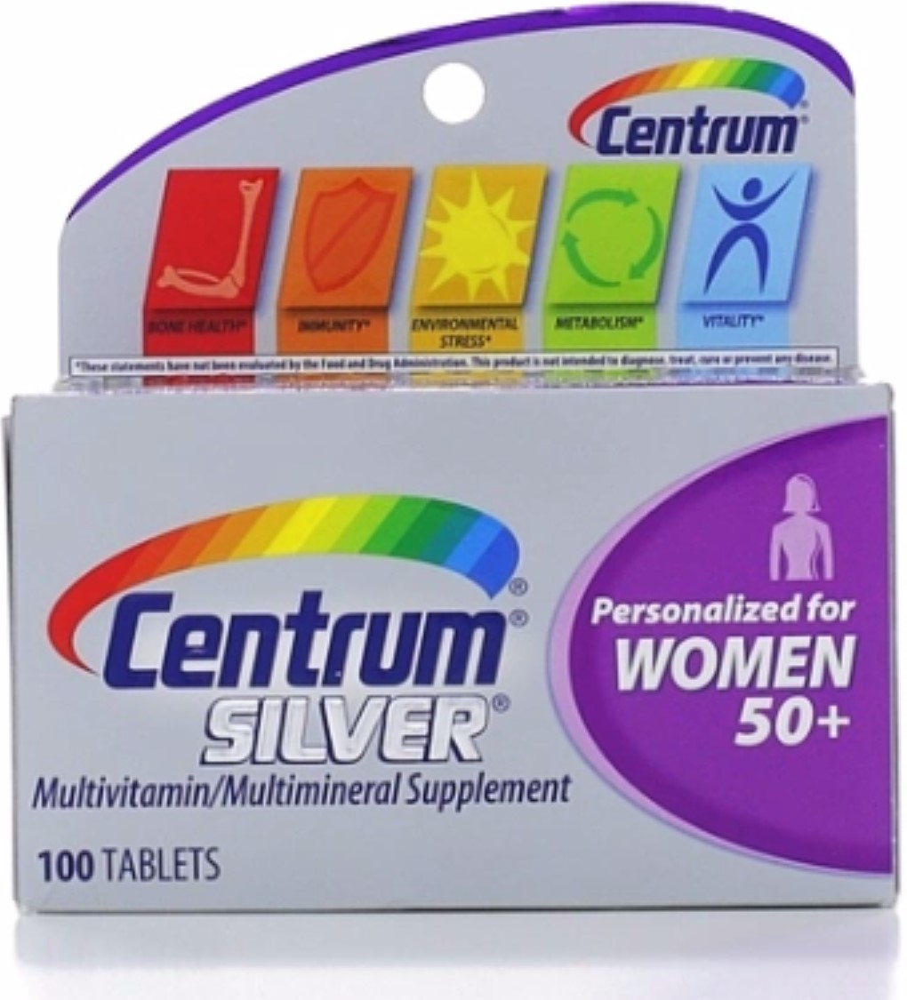 Centrum Silver MultivitaminTablets, Women 50+, 100 ea (Pack of 4)