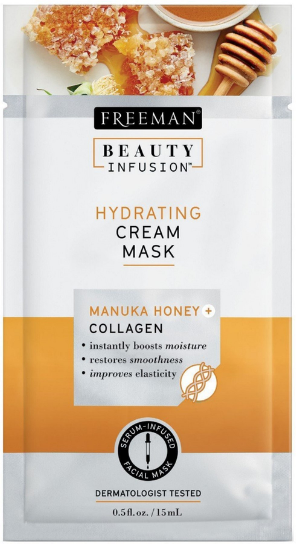 2 Pack - Freeman Beauty Infusion Mask Hydrating Pack 0.5 oz Lift Lab Lift + Repair, Multi-Active Treatment Serum 1 oz (Pack of 3)