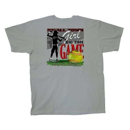 Softball T-Shirt Small Town Girl Big Game