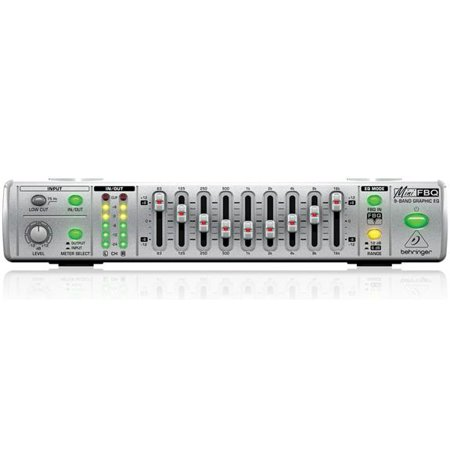 Behringer MINIFBQ FBQ800 Ultra-Compact 9-Band Graphic Equalizer with (Connect Graphic Equalizer)