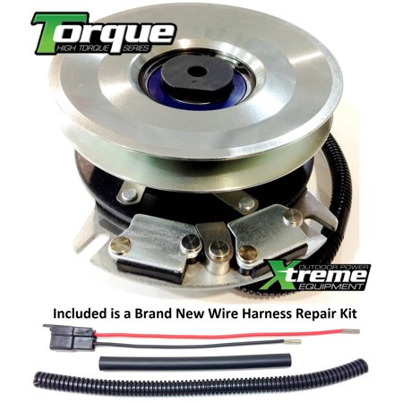 Bundle - 2 items: PTO Electric Blade Clutch, Wire Harness Repair Kit   Replaces John Deere Electric PTO Clutch AM136115 - w/ Wire Harness Repair  Kit !