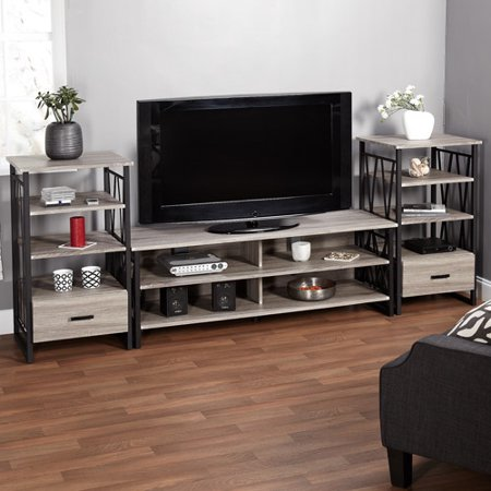 Jaxx Collection Entertainment Center Bundle for TVs up to 60;