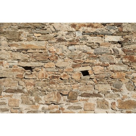 LAMINATED POSTER Natural Stone Masonry Old Stones Background Wall Poster Print 24 x 36