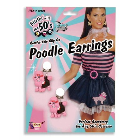 Poodle Halloween Costume Accessory Earrings