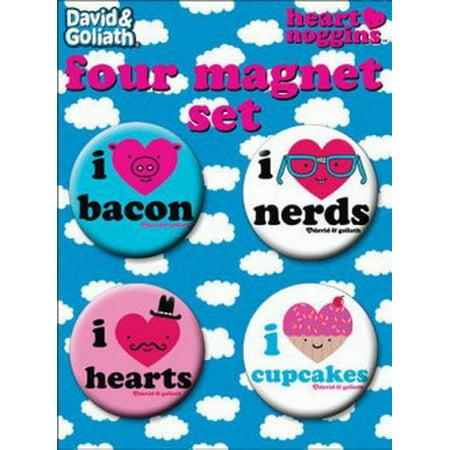 Round Bacon (David and Goliath I Heart Bacon Nerds Round Magnet Set 40174RM4 )