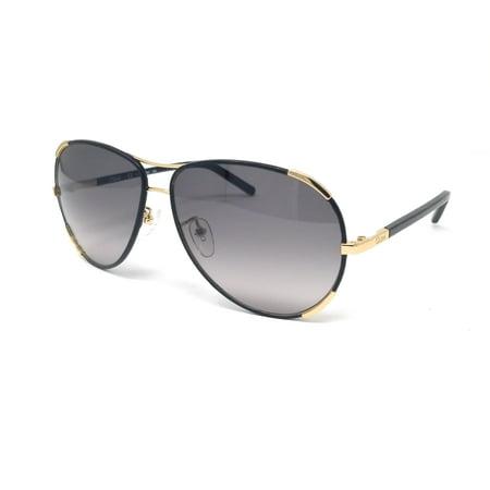CHLOE Sunglasses CE100SL 752 GOLD-BLACK Aviator 60x13x135 (Chloe Aviator Sonnenbrille)