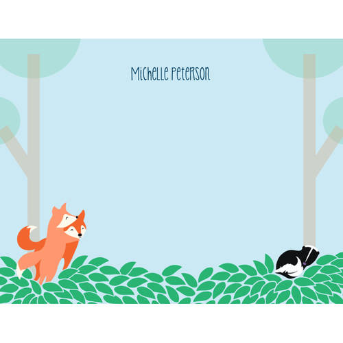 Woodland Animals Notecard