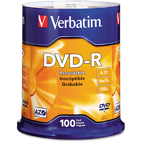 Verbatim DVD-R 4.7GB 16X AZO 100pk Spindle